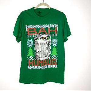 Oscar The Grouch Bah Humbug Christmas T-Shirt